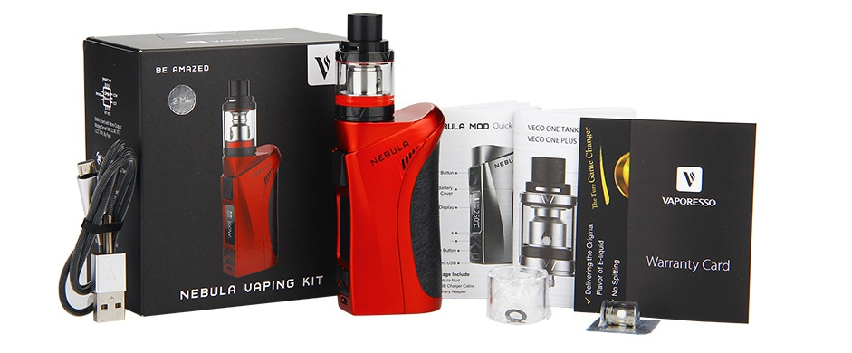 Vaporesso Nebula 100W TC Kit with Veco Plus Tank 2ml ULA MOO OU VAPORESSO We NEBULA VAPING KIT