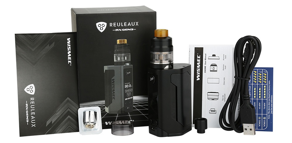 WISMEC Reuleaux RX GEN3 300W with Gnome TC Kit REULEAUX