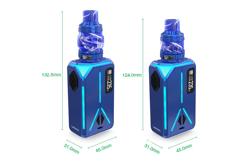 Eleaf Lexicon 235W TC Kit with ELLO Duro 132 5mm 1240mm 45 0mm