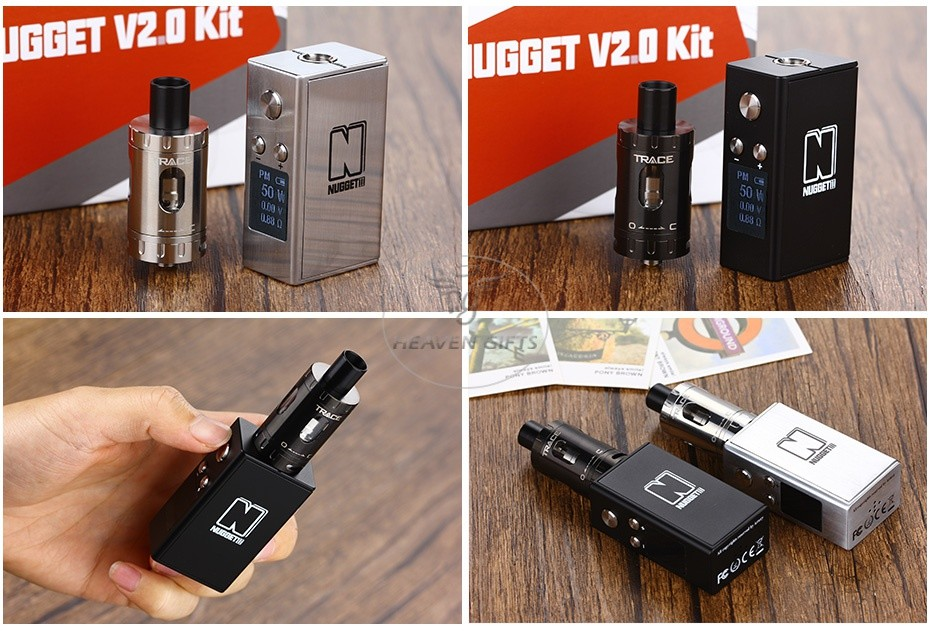 Artery Nugget V2 50W TC Kit With Trace Tank 1500mAh IGGET V20 Ki   GGET V20 Kit