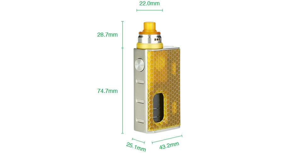 WISMEC Luxotic BF Box Kit with Tobhino 22 0mm 28 7mm 2
