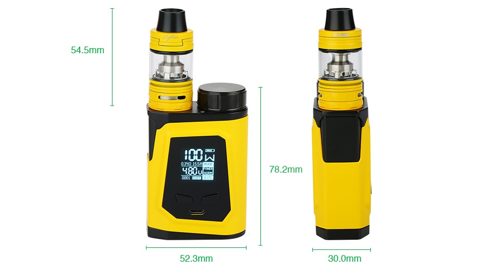 IJOY CAPO 100 with Captain Mini 21700 TC Kit 3750mAh 4 5mm H 78 2mm 52 3mm 30 0mm