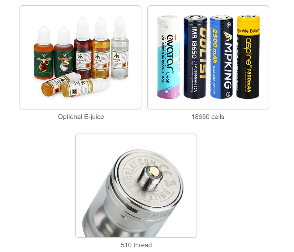 Vcigo Moon Box 200W MOD with Free Moonshot RTA ageable Battery   Optional E juice 8650ce 510 thread