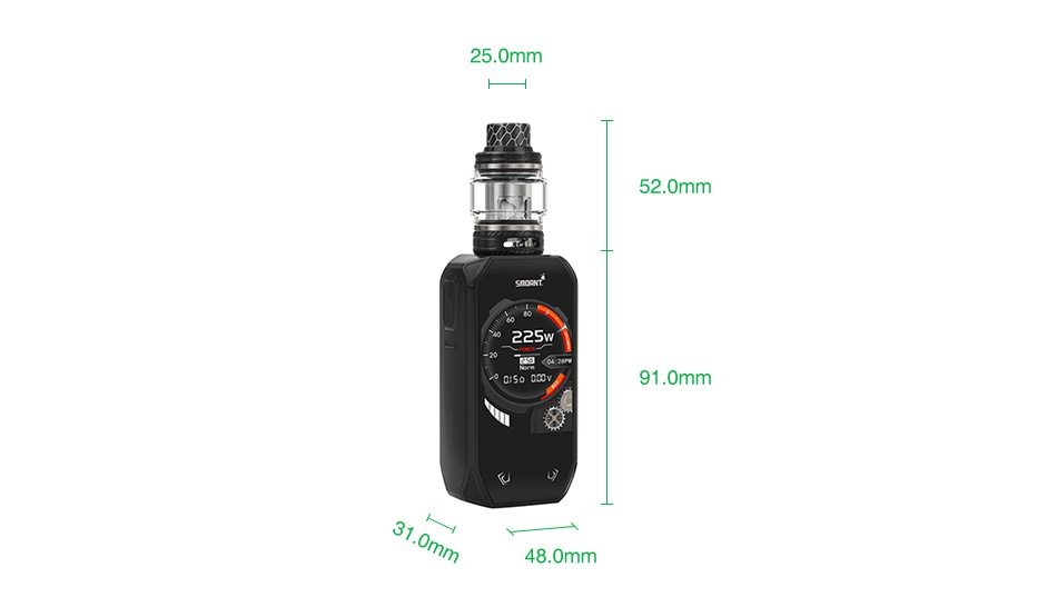 Smoant Naboo 225W TC Kit with Naboo Tank 25 0mm 52 0mm 225 1  0mm 48 0mm
