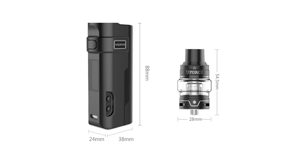 VOOPOO REX 80W TC Kit with UFORCE Tank 88 UFORCE 24mm 38mm