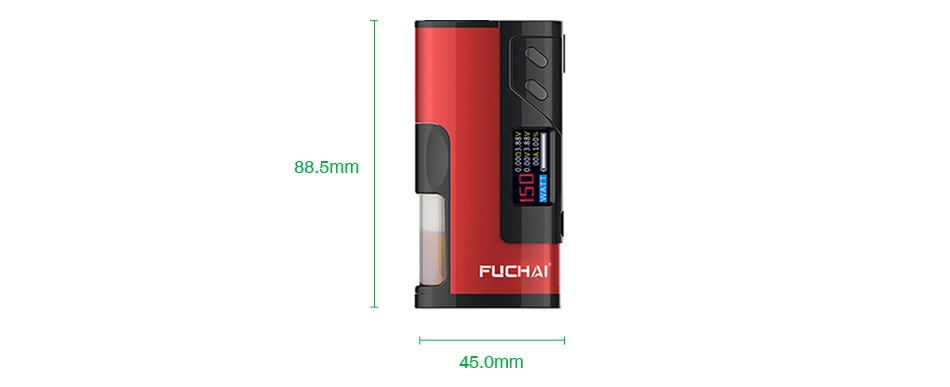 Fuchai Squonk 213 150W 21700 VW MOD FUCHAI FUCHAI FUCHAI FUCHAl Yellow Blue Red Black