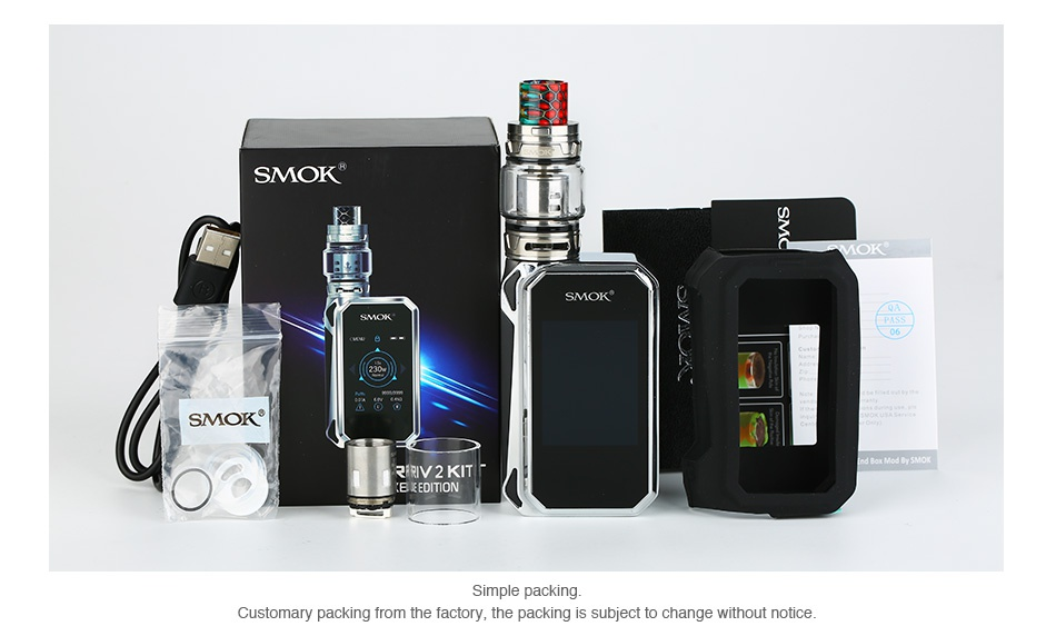 SMOK G-PRIV 2 230W with TFV12 Prince Kit Luxe Edition SMOK SMOK RRV 2 KIT Simple packing ustomary packi he factory  the packing is subject to change without notice