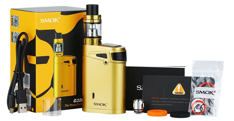 SMOK G320 Marshal With TFV8 Big Baby Starter Kit 320 G320 Black Silvel