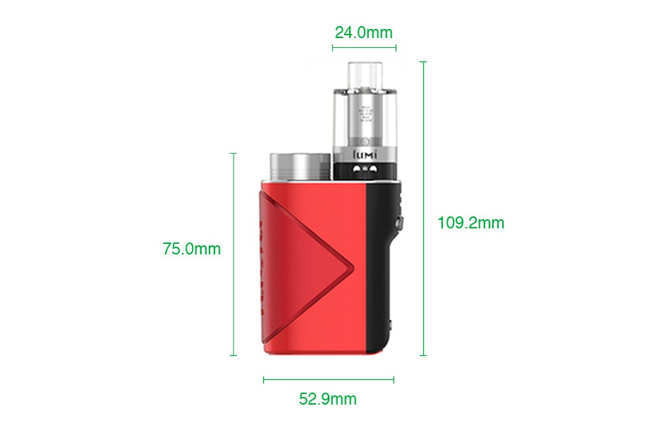 Geekvape Lucid 80W TC Kit with Lumi 24 0mm 1092mm 750mm 52 9mm