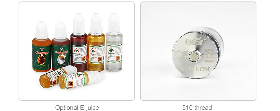 Eleaf iJust ECM Starter Kit 3000mAh Ela ECM Optional E juice 510 thread