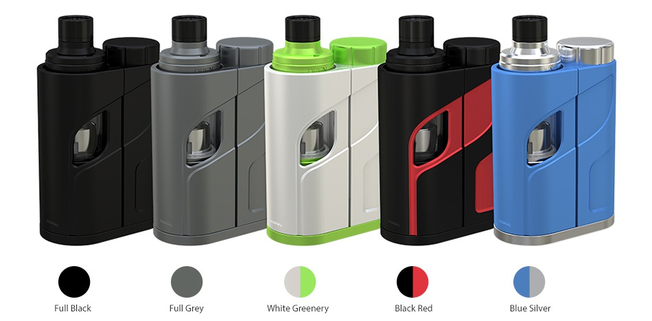 Eleaf iKonn Total with Ello Mini XL Full Kit 5.5ml Full black Full Grey White Greenery Black Red Blue silver
