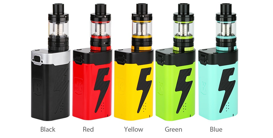 Kangertech FIVE 6 VW Starter Kit Black Red Yellow Green Blue