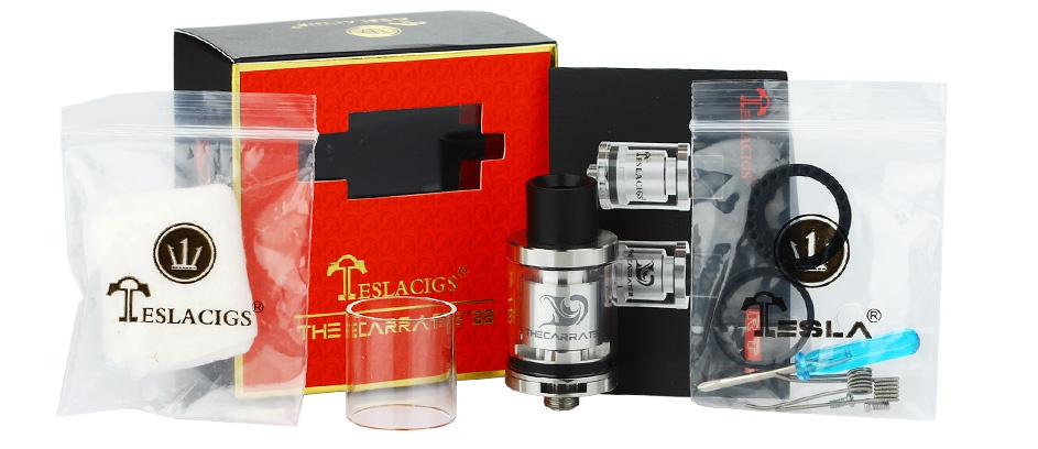Tesla The Carrate 22 RTA Atomizer 2ml SLACIGS ESLACIGS   L