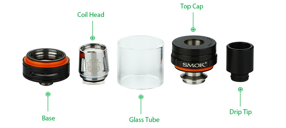 SMOK G-PRIV 220 With TFV8 Big Baby Starter Kit Top SMOK Drip tip Base Glass Tube