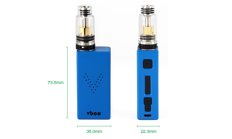 ATOM V-BOX 75W TC Kit with Metropolis Mini 73 5mm VSoN omm