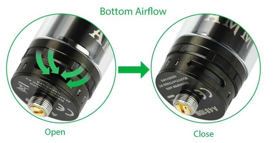 GeekVape Ammit RTA 3.5ml Bottom Airflow Open Close