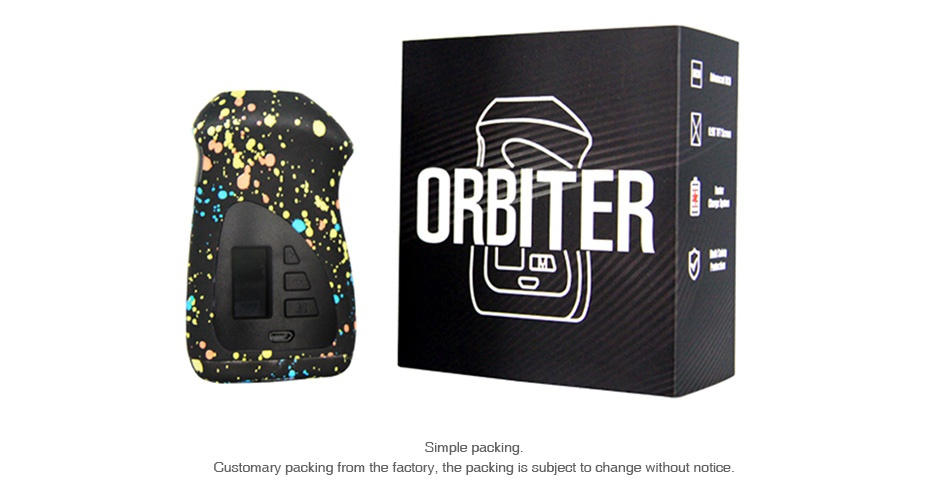 Hugo Vapor Orbiter GT230 TC Box MOD URBITER on Simple Customary packing from the factory  the packing is subject to change without notice