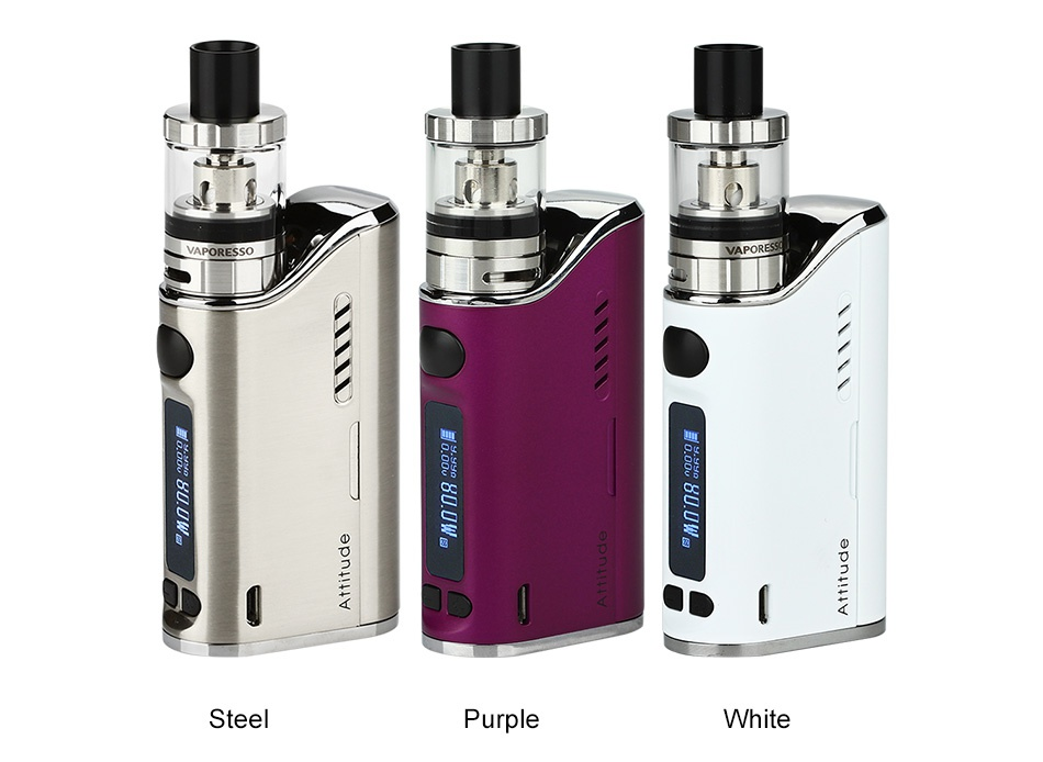 Vaporesso Attitude 80W EUC Kit Steel Purple White