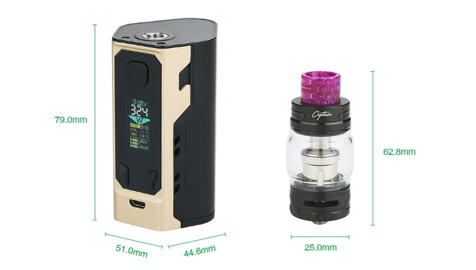IJOY Captain X3 324W 20700 TC Kit 790mm 62 8mm 51 0mm n 4