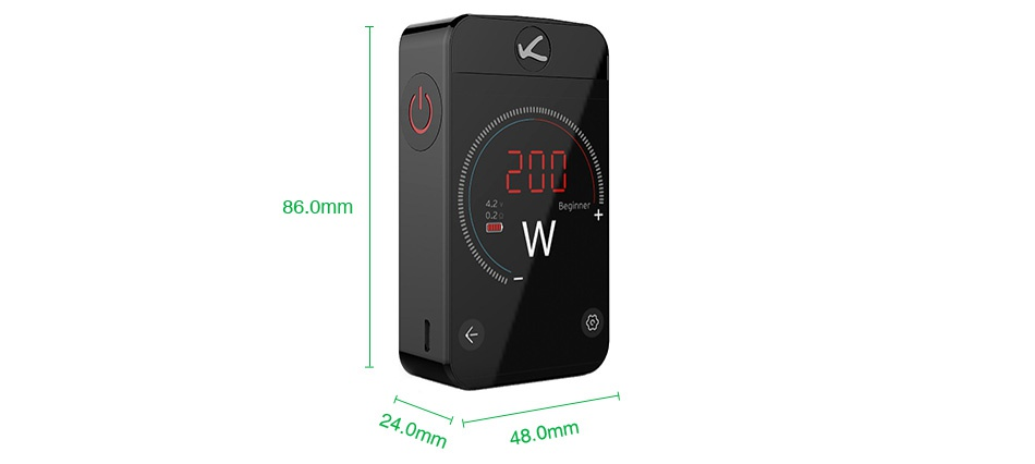 Kangertech Pollex 200W Touch Screen TC MOD 3500mAh W W W Gray Blue White Black
