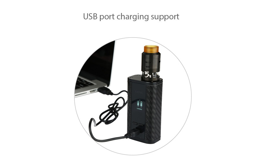 IJOY Captain PD1865 225W with RDTA 5S TC Kit USB port charging support 5