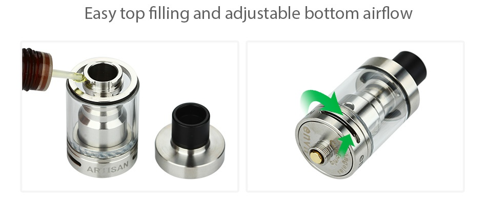 Envii Artisan RTA 3ml Easy top filling and adjustable bottom airflow
