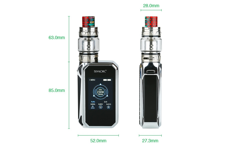 SMOK G-PRIV 2 230W with TFV12 Prince Kit Luxe Edition 28 0mm 63 0mm SMOK 85 0mm 2 0mm 27 3mm