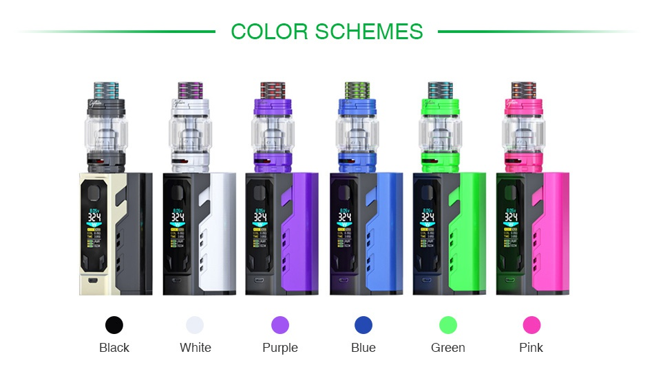 IJOY Captain X3 324W 20700 TC Kit COLOR SCHEMES White Greer