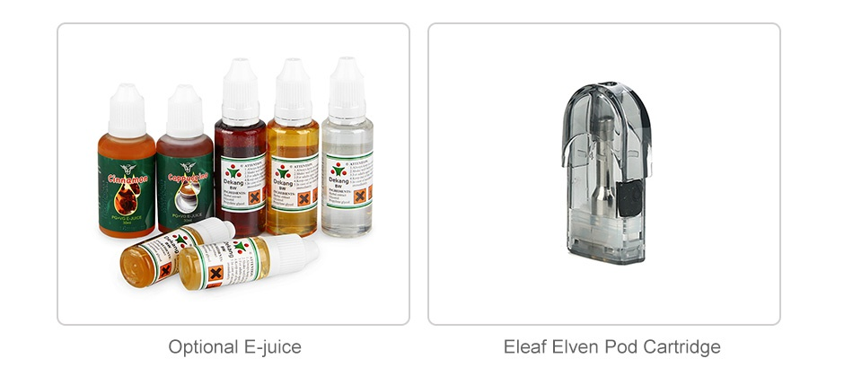 Eleaf Elven Pod Starter Kit 360mAh Optional E juice Eleaf Elven Pod Cartridge