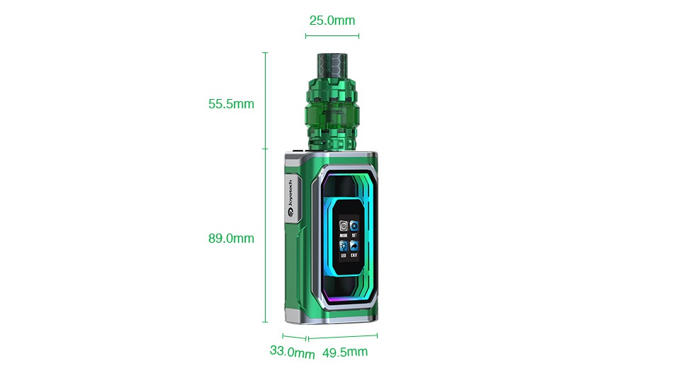 Joyetech ESPION Infinite 230W TC Kit with ProCore Conquer Dazzling Black Green Red Gold Blue