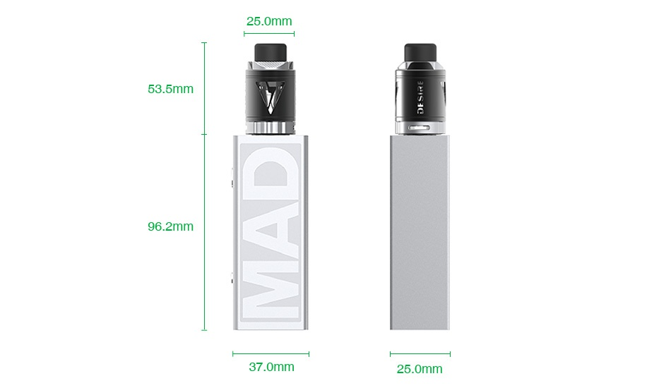 [With Warnings] Desire Mad Mod 108W TC Kit with M-Tank 25 0mm 53 5mm III 96 2mm 37 0m 25 0mm