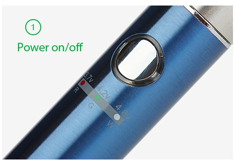 Kangertech EMOW Starter Kit 1300mAh Power on off