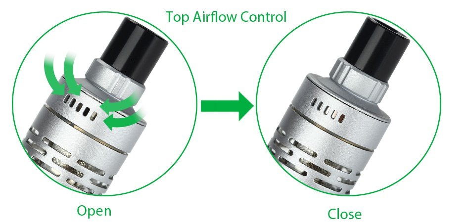 Joyetech Elitar Pipe TC Starter Kit Top Airflow Contro Open Close