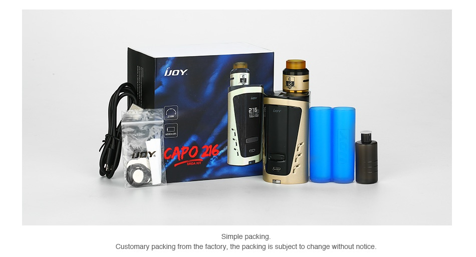 IJOY CAPO 216 SRDA 20700 Squonker Kit Say capo 2l Customary packing from the factory  the packing is subject to change without notice