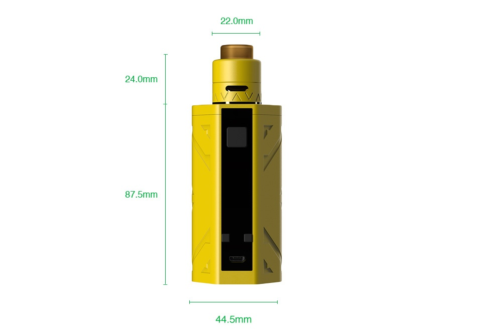 Smoant Battlestar 200W TC Squonker Kit y  Black Gunmetal Gradient blue Yellow