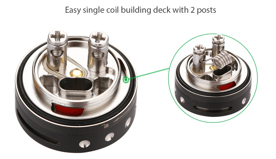 WOTOFO Viper RTA 3ml Easy single coil building deck with 2 posts
