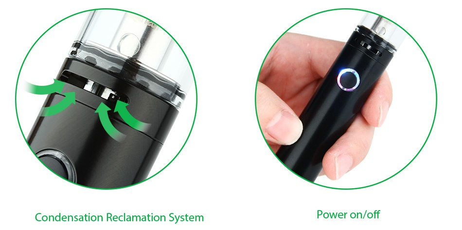 Kangertech PANGU Starter Kit 2500mAh Condensation Reclamation Syster Power on off