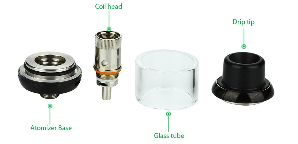 SMY MR.Q 40W TC Starter Kit Coil head Atomizer base Glass tube