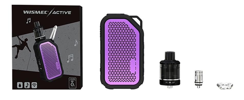 WISMEC Active Bluetooth Music TC Kit with Amor NSE 2100mAh WISMEE ACTIVE