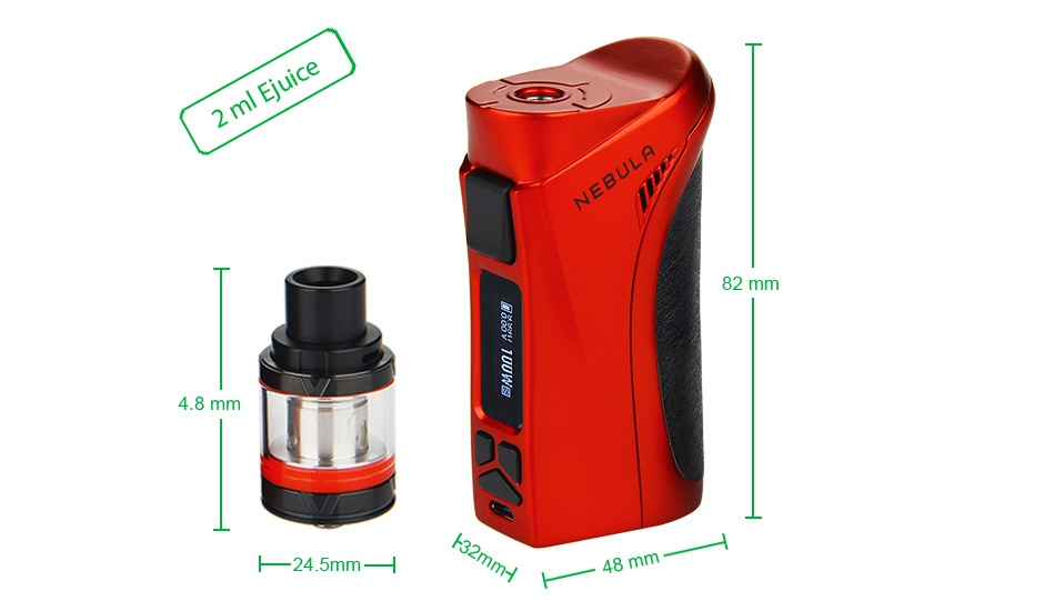 Vaporesso Nebula 100W TC Kit with Veco Plus Tank 2ml 82m 4 8mm 24 5mm y H  48 mm