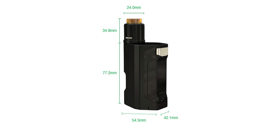 WISMEC Luxotic DF Box 200W TC Kit with Guillotine V2 24 0mm 34 8mm 77 2 m 42 1mm 54 5mm