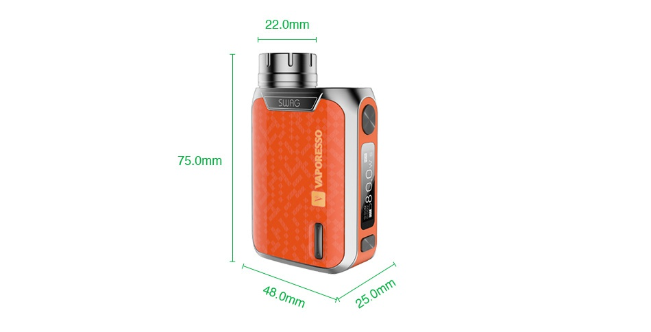 Vaporesso Swag 80W TC Kit with NRG SE Tank 2ml/3.5ml 22 0mm SWAG Omm 48
