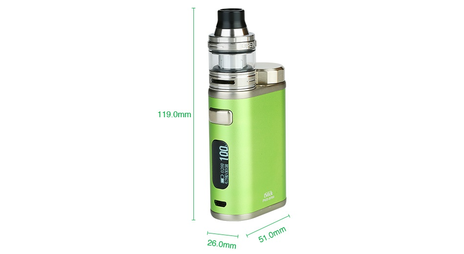 Eleaf iStick Pico 21700 100W with Ello TC Kit 4000mAh 1190mm 260mm