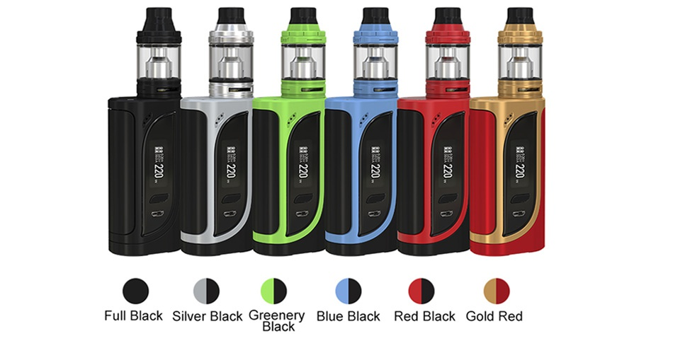 Eleaf iKonn 220 with Ello Kit Full Black Silver Black Greenery Blue Black Red Black Gold Red Black
