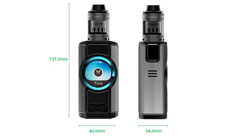Aspire Dynamo 220W TC Kit with Nepho 137 0mm Ti 49 0mm 34  omm