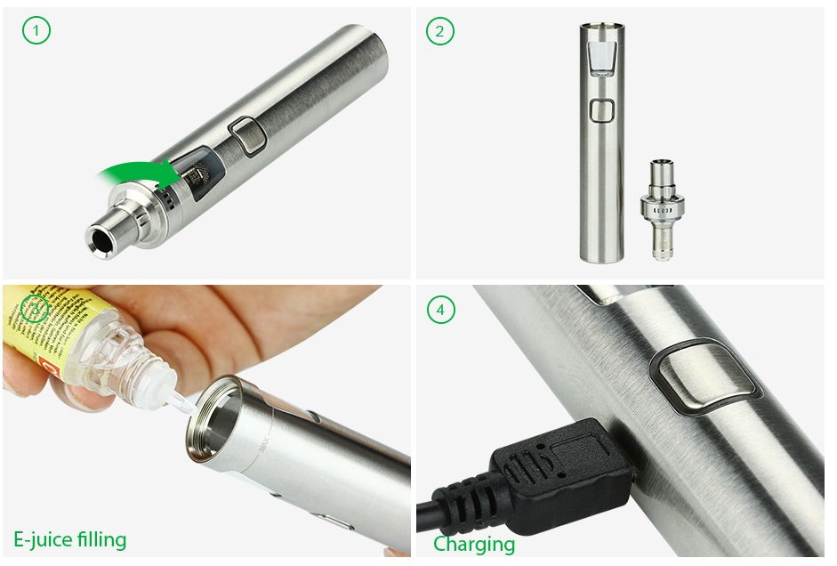 Joyetech eGo AIO Pro Start Kit 2300mAh E juice filling Charging