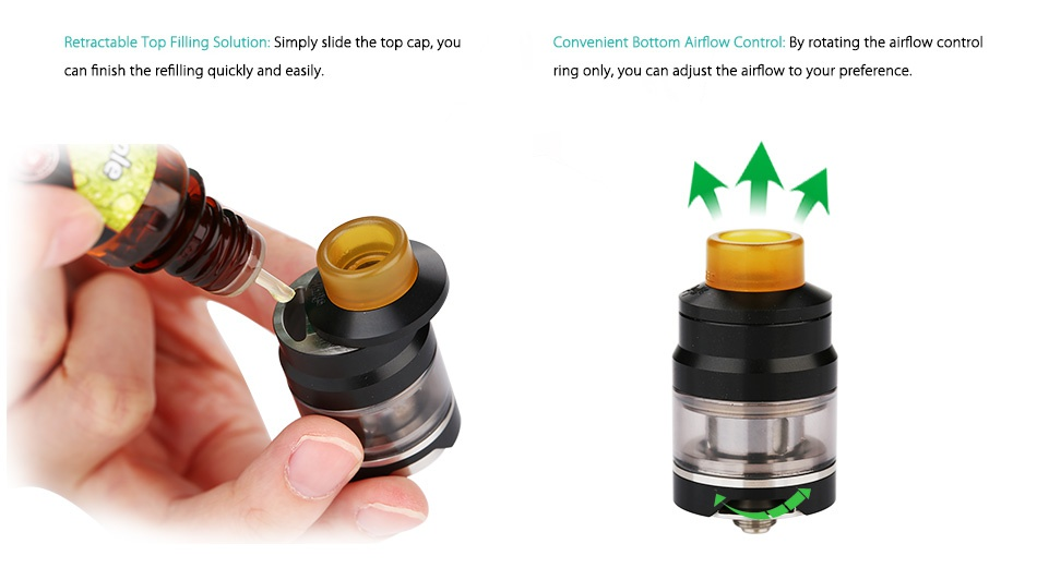WISMEC Reuleaux RX GEN3 300W with Gnome TC Kit tractable Top filling soluti C nt Bottom Airflow Control  By rotating the airflow control an finish the refilling quickly and easily ring only  you can adjust the airflow to your preference