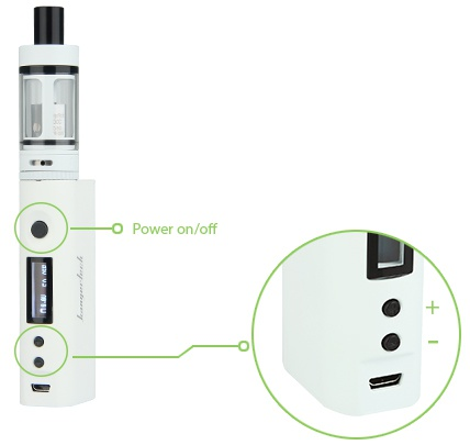 Kangertech Subox Mini 50W VW Starter Kit o Power on  off