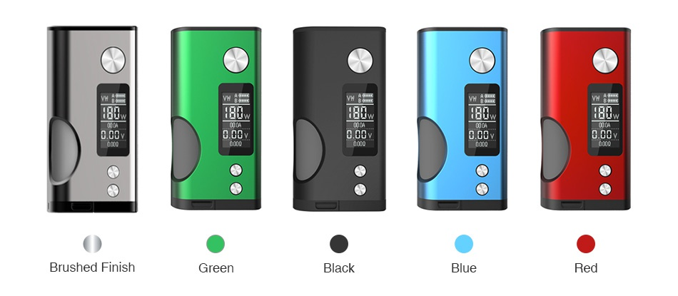 DOVPO Basium 180W VV Squonk MOD Red Black Blue Green Brushed finish