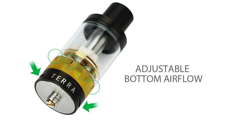 Envii Terra Octo-coil RTA 5.5ml ADJUSTABLE BOTTOM AIRFLOW